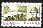 Stamps : Europe : Poland :  Invasión de Polonia, batalla cerca de Oleszyce, general de brigada JR Kustron