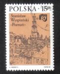 """Stamps : Europe : Poland :  """"Poznan y el Ayuntamiento"""" (S. Wyspianski)"""