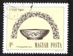 Sellos del Mundo : Europa : Hungría : Arqueología, Cuenco de plata y oro