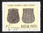 Sellos del Mundo : Europa : Hungría : Arqueología, Placas de cinturón de sable, Szolnok-Strázsahalom y Galgóc