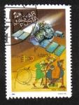 Sellos del Mundo : Europa : Hungría : Detalle del tapiz del cometa Halley, URSS Vega y Bayeux