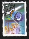 Sellos del Mundo : Europa : Hungría : El cometa Halley, la Agencia Espacial Europea Giotto y los Tres Magos
