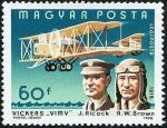 Sellos del Mundo : Europa : Hungría : Historia de los pilotos, J. Alcock y R. W. Brown