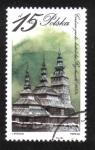 Stamps : Europe : Poland :  Edificios religiosos, Iglesia Ortodoxa Griega, Rychwald