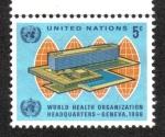 Sellos de America - ONU -  Inauguración de W.H.O. Sede, Ginebra