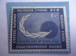 Sellos de America - ONU -  Usos Pacificos  de Espacios Extraatmosferico - Símbolo de la Paz