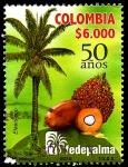 Sellos del Mundo : America : Colombia : FEDERACIÓN NACIONAL DE CULTIVADORES DE PALMA DE ACEITE - FEDEPALMA 50 AÑOS