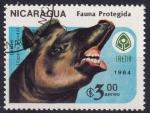 Stamps : America : Nicaragua :  tapir