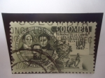 Sellos de America - Colombia -  Unión Postal Universal-Semana de la Carta-Con motivo del XIV Congreso de la UPU, 1957, Bogotá.