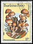Sellos de Africa - Burkina Faso -  Setas - Pholiota mutabilis