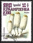 Stamps : Asia : Cambodia :  Setas - Coprinus comatus