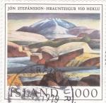 Sellos del Mundo : Europa : Islandia :  pintura de Jón Stefánsson