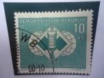 Stamps Germany -  Alemania,República Democrática-XIV. Schach.Olympiade 1960-Leipzig-Torre de Ajedrez-Serie:Ajrdrez-Emb