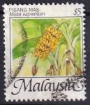 Sellos de Asia - Malasia -  Musa sapientum-Banana