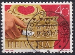 Stamps : Europe : Switzerland :  tallado en madera