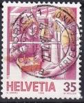 Stamps : Europe : Switzerland :  oficina de correos