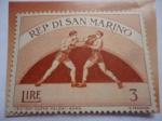 Sellos del Mundo : Europa : San_Marino : Boxeo - Rep. Di San Marino - Pro Sport 2nd set- Eventos Deportivos.