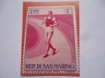 Sellos del Mundo : Europa : San_Marino : Trote-Maratón - Rep. Di San Marino - Pro Sport 2nd set- Eventos Deportivos.