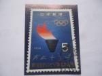 Sellos del Mundo : Asia : Japón : Antorcha Olímpica - Serie:Juegos Olímpicos de Tokio 1964