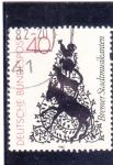 sello : Europa : Alemania :  Silueta (tapicería Dora Brandenburg)