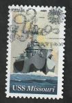 Sellos del Mundo : America : Estados_Unidos :  75 Anivº del Acorazado USS Missouri  (BB-63)
