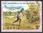 de Africa - Liberia -  Centenario del aniversario de la Unión Postal Universal