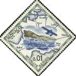 Sellos del Mundo : Europa : Mónaco : Reproducción de postal diseñada para el primer rally aéreo de Monte Carlo.
