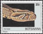 Sellos del Mundo : Africa : Botswana : fauna