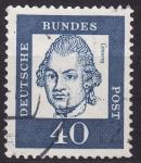 Stamps Germany -  Gotthold Ephraim Lessing