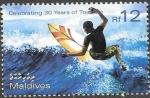 Sellos de Asia - Maldivas -  surf