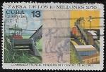 Sellos del Mundo : America : Cuba :   Zafra de los 10 millones
