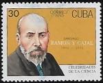 Stamps : America : Cuba :  Santiago Ramón y Cajal