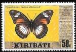 Stamps Oceania - Kiribati -  mariposas