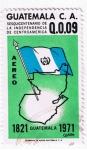 sellos de America - Guatemala -  Sesquicentenario de la independencia de Centroamérica  1821 - 1971