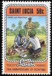 Sellos del Mundo : America : Santa_Lucía : scouts