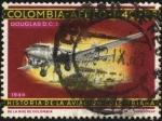 Stamps Colombia -  Historia de la aviación Colombiana.1944 Douglas D.C.3.