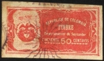 Stamps Colombia -  Timbre Departamental de Santander.