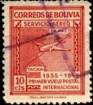 Stamps Bolivia -  10 aniversario primer vuelo postal internacional  LA PAZ-TACNA.