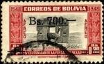 Sellos de America - Bolivia -  400 años de la fundación de LA PAZ. Puerta del Sol en TIWANAKU.