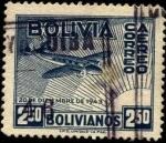 Stamps Bolivia -  Aeroplano y el sol. Revolución del 20 de diciembre de 1943.