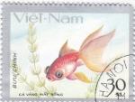 Stamps Vietnam -  pez tropical