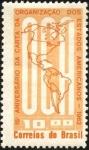 Stamps Brazil -  15 aniversario de la Carta de Organización de la O.E.A.