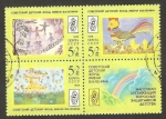 Sellos del Mundo : Europa : Rusia :  5570, 5571, 5572 - Dibujos infantiles