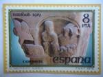 Stamps Spain -  Ed:2550- El Nacimiento - Huesca - Natividad-Escultura en un Capitel. Huesca.