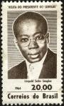 Sellos de America - Brasil -  Visita a Brasil del presidente de Senegal, LÉOPOLD SÉDAR SENGHOR.