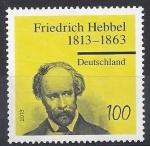 sello : Europa : Alemania : 2013 - 200 aniversario del nacimiento de Friedrich Hebbel