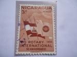 de America - Nicaragua -  Rotary Internacioinal- 50 Aniversario (1905-1955)