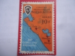 de America - Nicaragua -  XIII Congreso Regional - Camara de Comercio Junior - Mapa regional