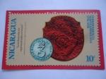 de America - Nicaragua -  Moneda Colonial - Independencia Norteamericana (1776-1976) - 200 Años de la Independencia-