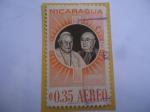 de America - Nicaragua -  Papa Juan XXIII y el Cardenal Francis Spellman - Serie:Visita del Cardenal a Managua (1959)